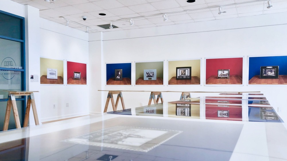 Installation view of The Color of Remembering