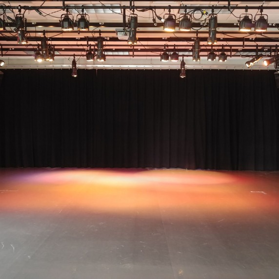 Open stage space to practice dance routines for a performance