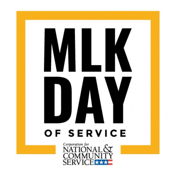 Corporation of National and Community Service MLK Day of Service logo