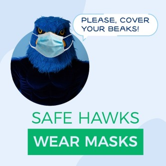 Happy Monday, Hawks!   Hillsborough County's Protective Face Coverings Order remains in effect even under Phase 3 of Florida Gov. Ron DeSantis' Safe. Smart. Step-by-Step Plan for Florida's Recovery. Help us stop the spread and show that #HillsboroughCares!   #HCCFL #HawkStrong