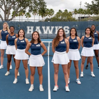 Our Lady Hawks Tennis team just completed an undefeated season (6-0) and are heading to the NJCAA  Region 8 State Tournament this weekend in Orlando. 🎾  After that, they are on to Nationals in Arizona, go Hawks! #HCCFL